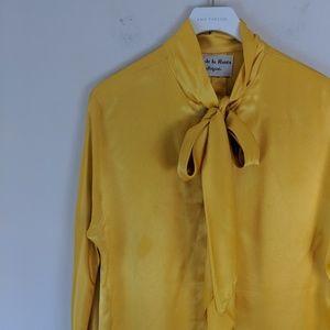 Oscar de la Renta • Vintage Silk Blouse [Tops]